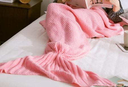 Zeemeermin deken | Keuze uit 2 maten en 5 kleuren Roze