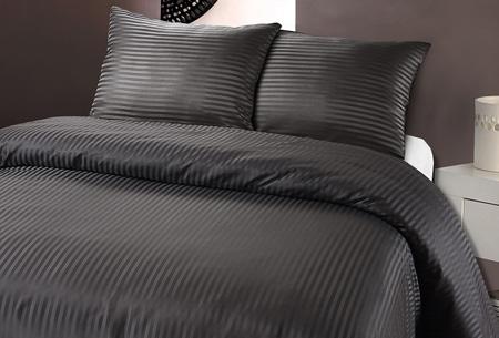 Luxe dekbedovertrek van hotelkwaliteit   Een aanwinst voor elke slaapkamer antraciet
