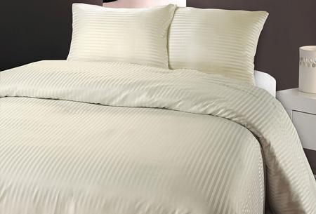 Luxe dekbedovertrek van hotelkwaliteit   Een aanwinst voor elke slaapkamer crème