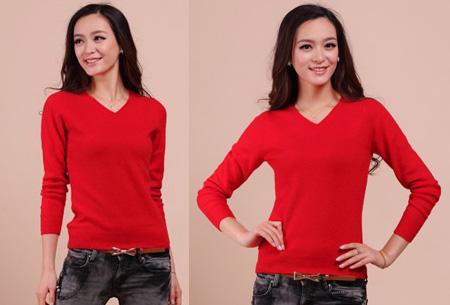 Cashmere blend trui | Zijdezachte kwaliteit met echte cashmere voor ultiem draagcomfort rood