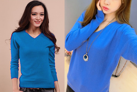 Cashmere blend trui | Zijdezachte kwaliteit met echte cashmere voor ultiem draagcomfort blauw