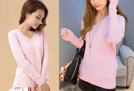 Cashmere blend trui | Zijdezachte kwaliteit met echte cashmere voor ultiem draagcomfort roze