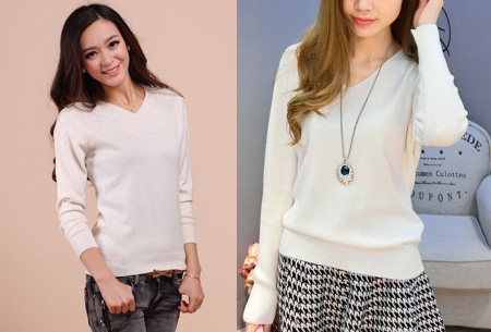 Cashmere blend trui | Zijdezachte kwaliteit met echte cashmere voor ultiem draagcomfort wit