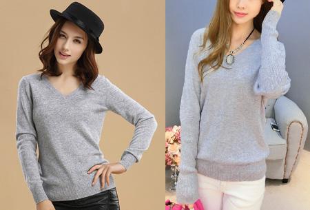 Cashmere blend trui | Zijdezachte kwaliteit met echte cashmere voor ultiem draagcomfort grijs