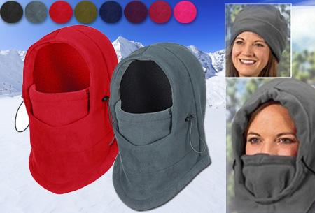 Multifunctionele Fleece skimuts! Houd je gezicht warm tijdens de winterse kou!