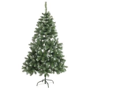 Kunstkerstboom met of zonder sneeuw   Alle maten nu slechts 14,99 + GRATIS kerst muursticker! Met sneeuw