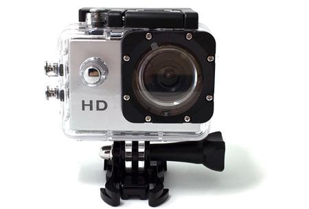 Sport HD 1080P Action camera Zilver + 32GB micro SD