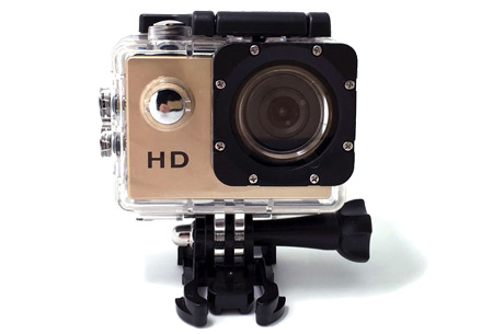 Sport HD 1080P Action camera | Voor al je actievideo's en -foto's  Goud