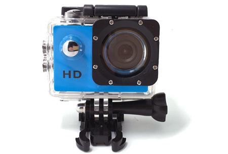 Sport HD 1080P Action camera | Voor al je actievideo's en -foto's  Blauw