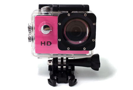 Sport HD 1080P Action camera Roze + 32GB micro SD