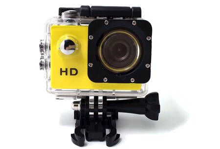 Sport HD 1080P Action camera | Voor al je actievideo's en -foto's  Geel