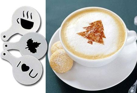 Cappuccino sjablonen 16 stuks
