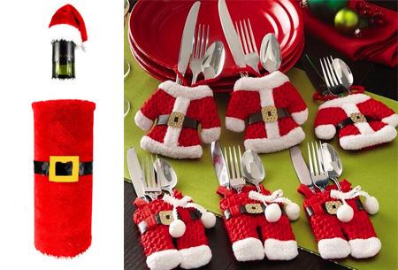 Dagaanbieding: Kerst bestekhouders&fleshouders