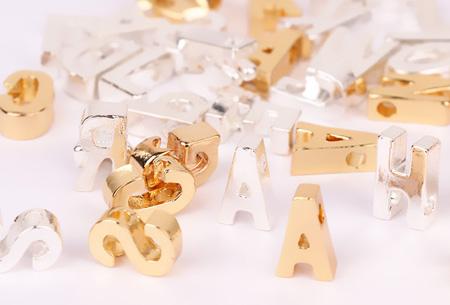 Letter ketting + hartje in de letters A t/m Z | Goud- of Zilverkleurig