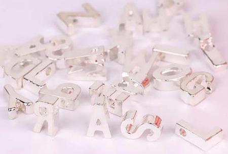 Letter ketting + hartje in de letters A t/m Z | Goud- of Zilverkleurig  Zilverkleurig