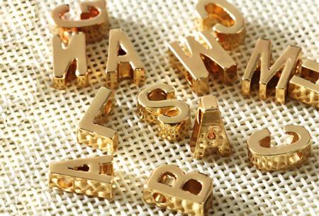Letter ketting + hartje in de letters A t/m Z | Goud- of Zilverkleurig  Goudkleurig