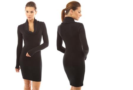 Autumn jurk met col | Kom altijd stijlvol voor de dag met deze hippe wannahave! zwart