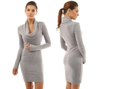 Autumn jurk met col | Kom altijd stijlvol voor de dag met deze hippe wannahave! grijs