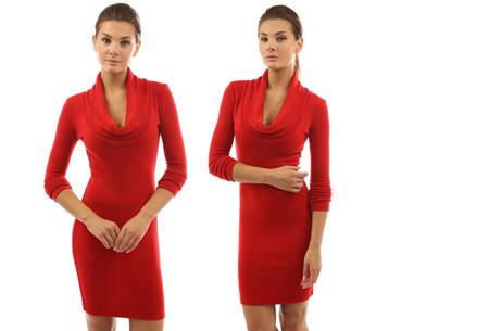 Autumn jurk met col | Kom altijd stijlvol voor de dag met deze hippe wannahave! rood