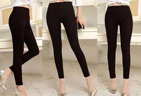 Stretch tregging | Comfortabele & elastische broek Zwart