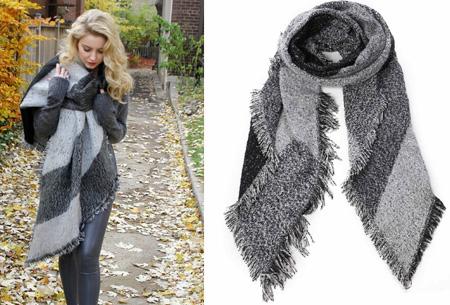 Lammy sjaal | Warme omslagdoek van topkwaliteit Grijs