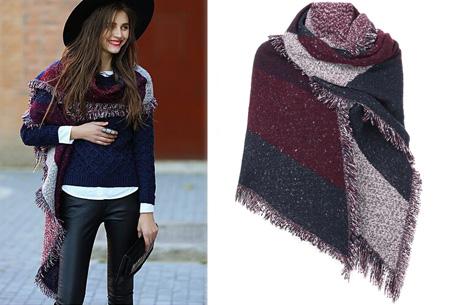 Lammy sjaal | Warme omslagdoek van topkwaliteit Wijnrood