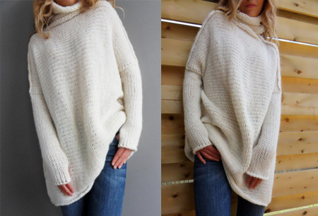 Knitted turtleneck trui | Warme, comfy trui voor een fashionable look wit