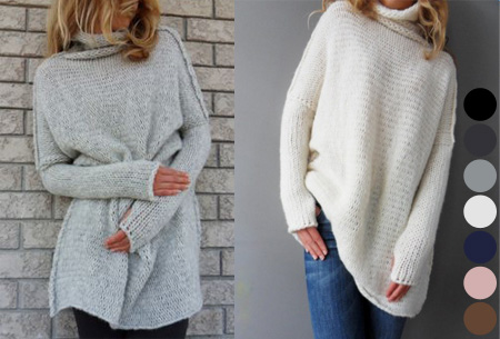 Knitted turtleneck trui