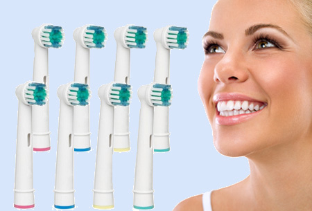 8-pack opzetborstels voor Oral-B tandenborstels