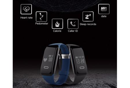 Bluetooth 4.0 Activity tracker | Monitor je hartslag, beweging, slaap en ontvang pushberichten