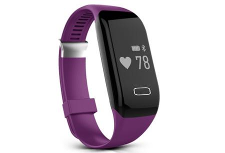 Bluetooth 4.0 Activity tracker | Monitor je hartslag, beweging, slaap en ontvang pushberichten Paars