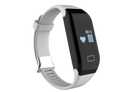 Bluetooth 4.0 Activity tracker | Monitor je hartslag, beweging, slaap en ontvang pushberichten Wit