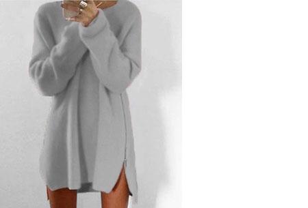 Knitted zipper trui   Een echte wannahave trui! Grijs