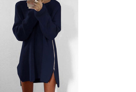 Knitted zipper trui   Een echte wannahave trui! Navy