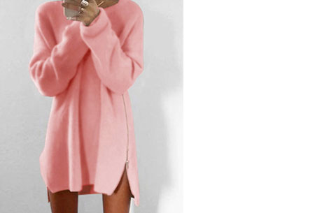 Knitted zipper trui | Een echte wannahave trui! Roze