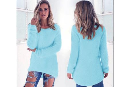 Fluffy pullover | Extreem zachte trui die niet mag ontbreken in jouw kledingkast Lichtblauw