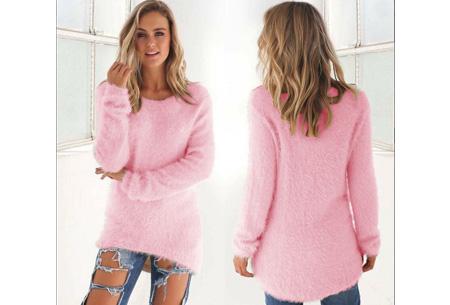 Fluffy pullover | Extreem zachte trui die niet mag ontbreken in jouw kledingkast Roze