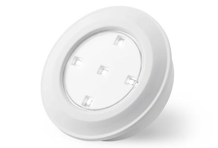 6 draadloze LED spots met afstandsbediening en touch | Eenvoudig overal te monteren