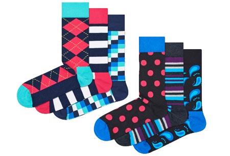 Happy Socks nieuwe lijn Socks Mania | Keuze uit 6 of 12 paar sokken Pack 1