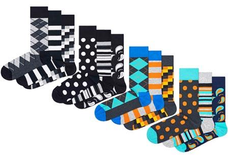 Happy Socks nieuwe lijn Socks Mania | Keuze uit 6 of 12 paar sokken Pack 3