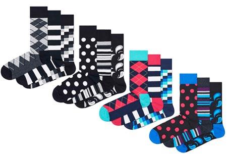 Happy Socks nieuwe lijn Socks Mania | Keuze uit 6 of 12 paar sokken Pack 4