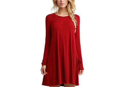 Sophisticated tuniek | Stijlvol, chique en vrouwelijk! Rood