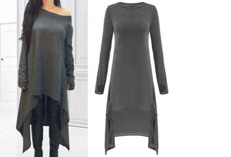Oversized t-shirt dress | Hip, comfortabel & eindeloos te combineren grijs