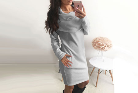 Soft sweater dress   Superzacht en fijn draagcomfort Grijs