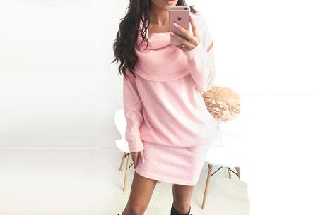 Soft sweater dress   Superzacht en fijn draagcomfort Roze