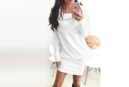 Soft sweater dress   Superzacht en fijn draagcomfort Wit