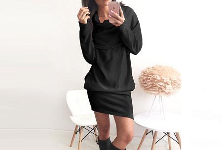 Soft sweater dress   Superzacht en fijn draagcomfort Zwart