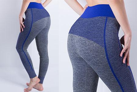 Sporty legging nu super voordelig | Comfortabel sporten in stijl! Stijl A - Donkerblauw