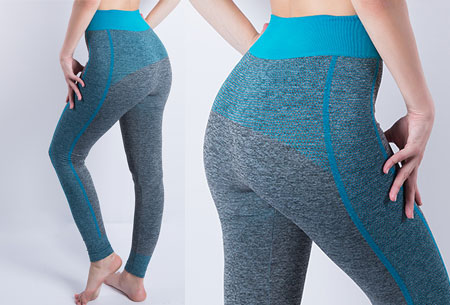 Sporty legging nu super voordelig | Comfortabel sporten in stijl! Stijl A - Lichtblauw