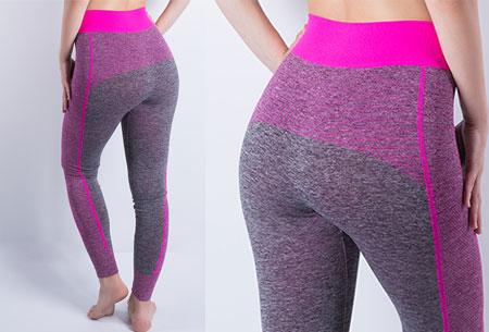 Sporty legging nu super voordelig | Comfortabel sporten in stijl! Stijl A - Fuchsia
